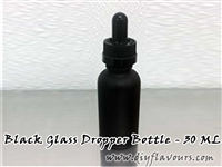30 ml Black glass bottle