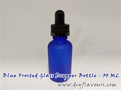 Blue Frosted Glass Dropper Bottle - 30 ML