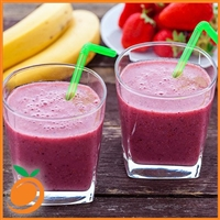 Strawberry Banana Smoothie  by Real Flavors