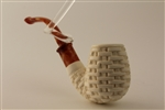 Special Hand Carved Basket Meerschaum Pipes