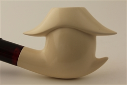 Special Hand Carved Japanese Garden Meerschaum Pipes