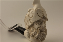 Deluxe Hand Carved Bacchus Meerschaum Pipes