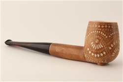 Special Hand Carved Designer Lattice Dark Finish Meerschaum Pipes