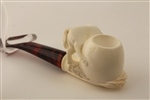 Deluxe Hand Carved Horse by Master Carver R. Karaca Meerschaum Pipe