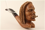 Special Hand Carved Bob Marley Meerschaum Pipe