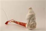 Deluxe Hand Carved Sultan Churchwarden Meerschaum Pipe
