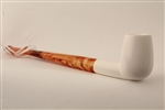 Deluxe Hand Carved Smooth Straight Churchwarden Meerschaum Pipe