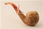 Deluxe Hand Carved Creme Caramel Meerschaum Pipe