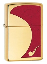 High Polish Brass Zippo Pipe Lighter