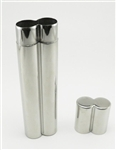 Stainless Steel Double Cigar Holder