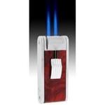 JetLine Paramount Double Torch Cigar Lighter Chrome/Red