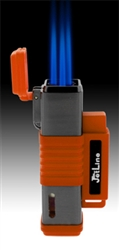 JetLine New York Triple Torch Cigar Lighter Orange