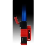 JetLine New York Quad Flame Torch Cigar Lighter Red
