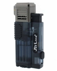 JetLine Gotham Lite Quad Jet Torch Cigar Lighter Blue