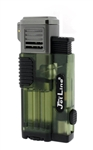 JetLine Gotham Lite Quad Jet Torch Cigar Lighter Green