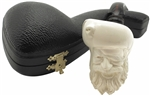Hand Carved Happy Pirate with Designer Stem Block Meerschaum Pipe