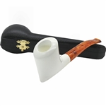 Muhsin Signed Smooth Freehand Block Meerschaum Pipe