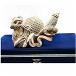 Fire Breathing Dragon Block Meerschaum Pipe