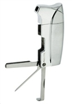 Vector KGM Colt Butane Pipe Lighter with Pipe Tools - Chrome Satin