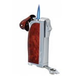 Vector KGM Dupla Butane Dual Pipe & Jet Torch Lighter - Mahogany Lacquer