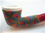 Fimo Meerschaum Pipes - Red Blaze