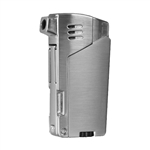 Vector KGM Gladius Butane Pipe Lighter w/Pipe Tools - Chrome Satin