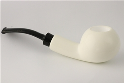 Hand Carved IMP Apple Block Meerschaum Pipe