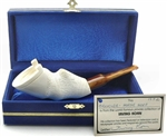 Original Horse Hoof by Ismet Bekler Meerschaum Pipe in Blue Chest