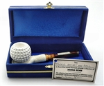 Deluxe Tennis Racket and Ball Meerschaum Pipe in Blue Chest