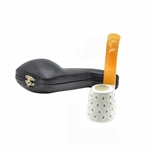 9mm Oom Paul Lattice Block Meerschaum Pipe