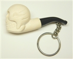 Skull Key Chain Meerschaum Pipe