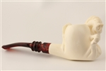 Special Hand Carved Horse by Master Carver R. Karaca Meerschaum Pipe