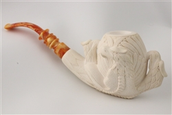 Special Hand Carved Eagle Claw by Master Carver I. Baglan Meerschaum Pipe