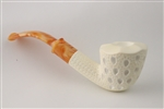 Special Hand Carved Drop Lattice by Emin Brothers Meerschaum Pipe