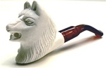 Mini Hand Carved Wolf Animal Meerschaum Pipes