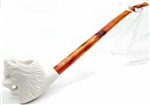 Mini Lion Churchwarden Meerschaum Pipe