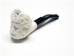 Mini Hand Carved Bacchus Head Meerschaum Pipes