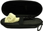 Mini Hand Carved Skull and Claw Meerschaum Pipe & Hard Case