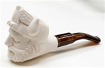 Mini Hand Carved Viking Head Meerschaum Pipes