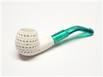 Mini Hand Carved Lattice Meerschaum Pipes