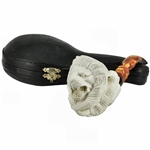 Deluxe Lion in Claw Block Meerschaum Pipe