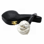 Oom Paul Lion Block Meerschaum Pipe