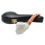 Lattice Claw Block Meerschaum Pipe