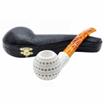 Apple 3D Round Lattice Block Meerschaum Pipe