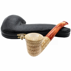 Dublin Colored 3D Lattice Block Meerschaum Pipe