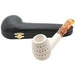 3D Lattice Saddle Stem Block Meerschaum Pipe