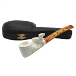 Ram Sitting on Shank Block Meerschaum Pipe