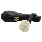 Double Eagle Heads Block Meerschaum Pipe