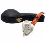 Lattice Backwards Claw Block Meerschaum Pipe