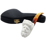 Oom Paul Style Pirate Block Meerschaum Pipe
